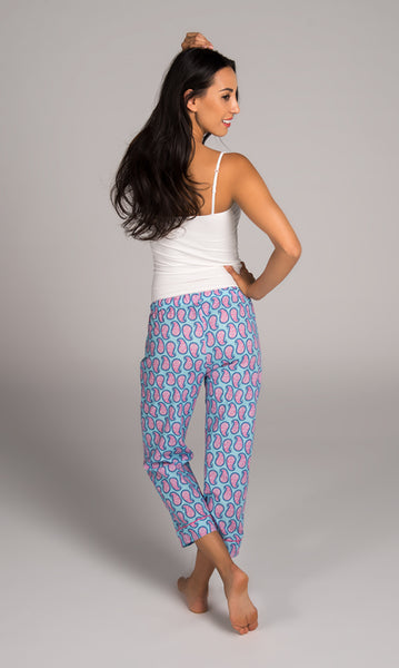Persian Paisley Blue Capri Lounger