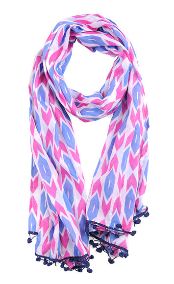 Tribal Arrows Purple Scarf Sarong