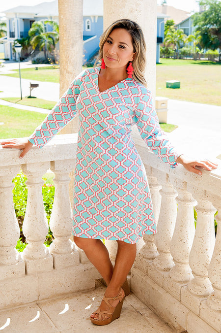 Medallion Cap Sleeve Dress