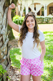 Lattice Pink Bayshore Shorts