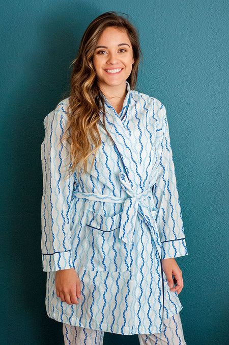 Savannah Navy Robe
