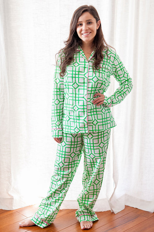 Isabelle Green Pajama Set