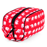 Elephants Red Dopp Kit