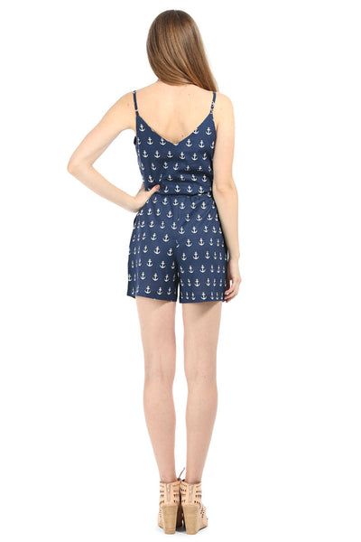 Anchors navy Romper