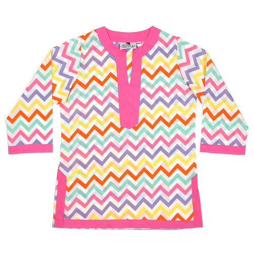 Capri Chevron Girls Tunic