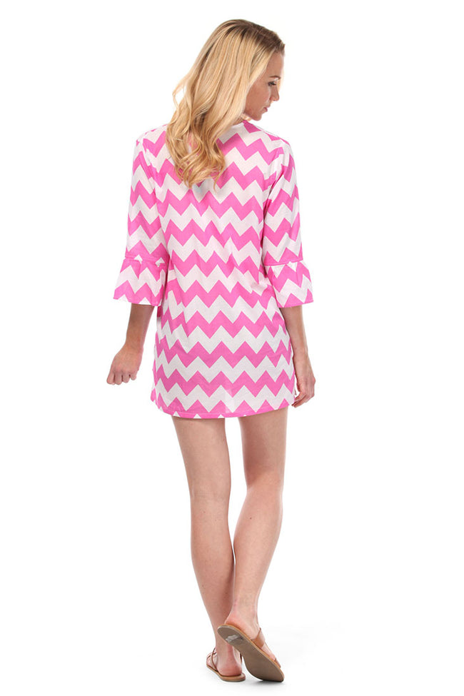Chevron Pink Tunic Cover Up