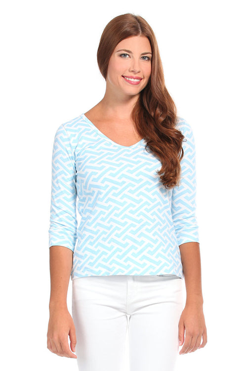 Molly Blue Knit Blouse