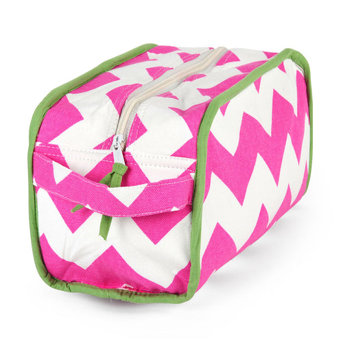 Chevron Pink Travel Kit