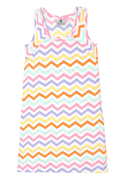 Capri Chevron Multi Color Boat Dress
