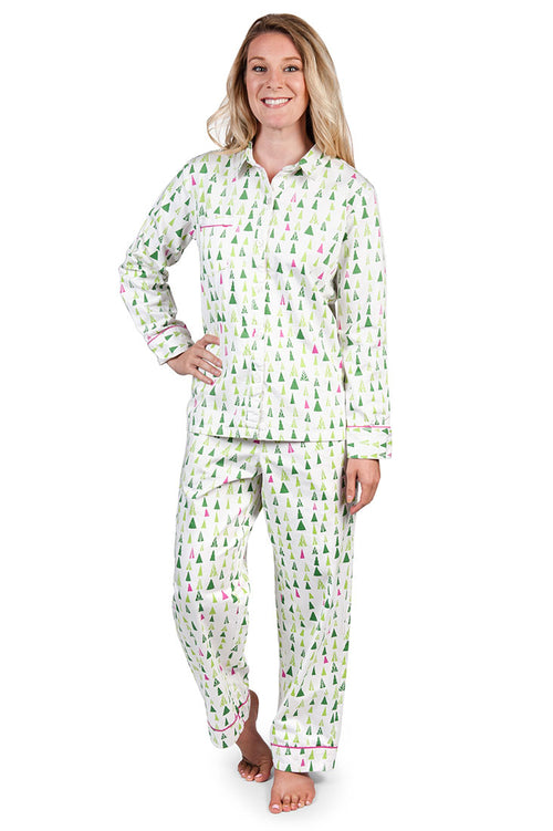 Tiny Trees Women's Sateen Pajama Set