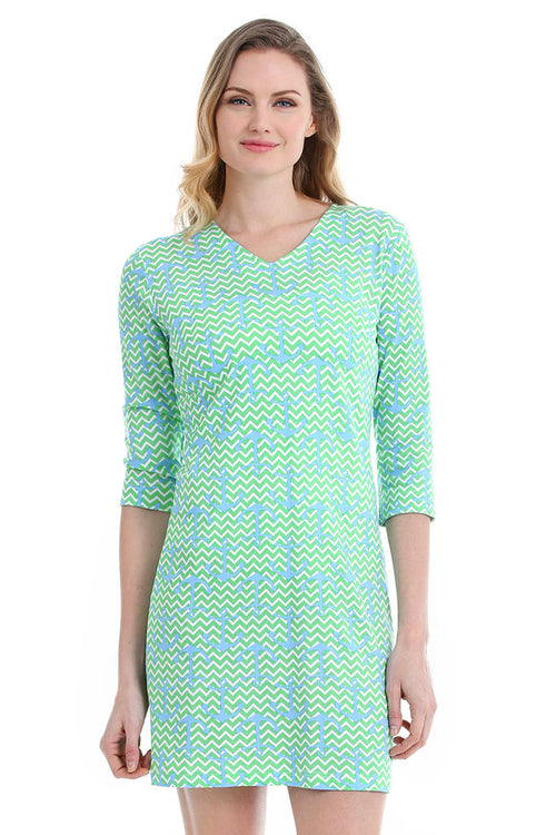 Chevron Anchors Zanzibar Dress