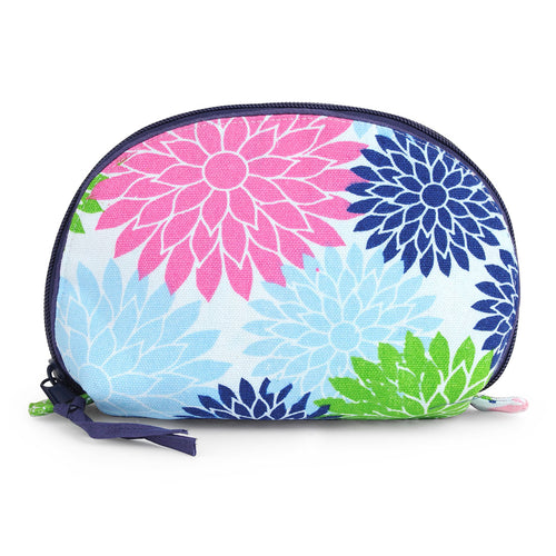 Floral Pop Multi Color Small Cosmetic Bag