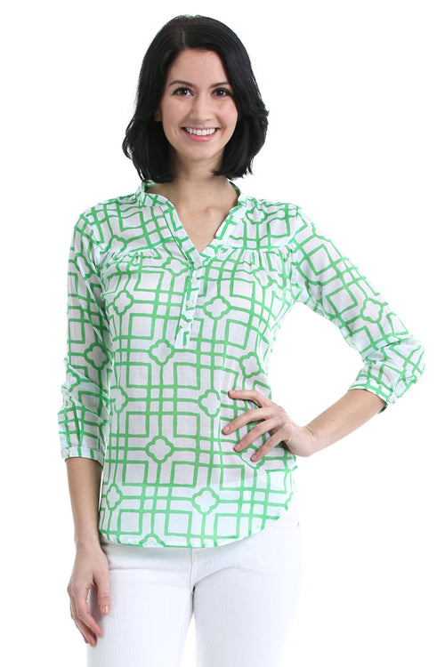 Isabelle Green Breeze Shirt