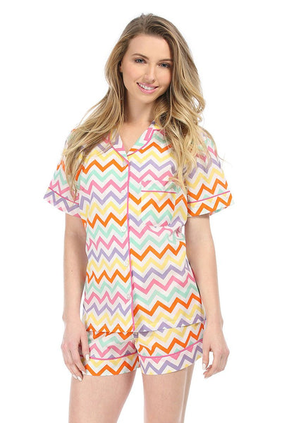 Capri Chevron Summer Pajama Set