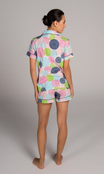 Floral Pop Multi Color Summer Pajama Set