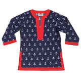 Anchors Navy Girl's Cover Up