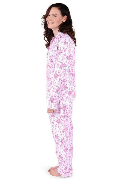 Monkey Cotton Poplin Pajama Set