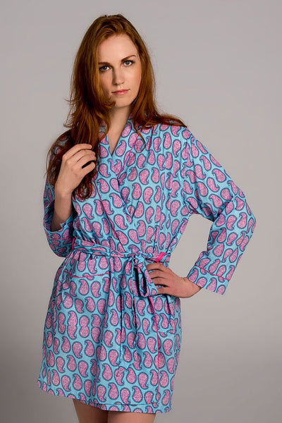 Persian Paisley Blue Robe