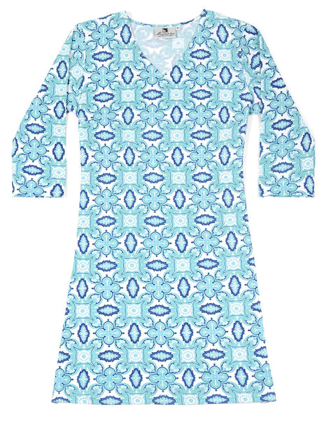 Color Burst Blue Zanzibar Dress