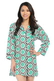 Roma Green Bed Shirt