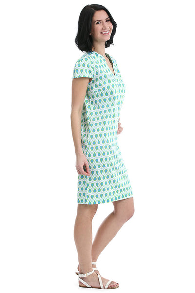 Teardrop Cap Sleeve Dress
