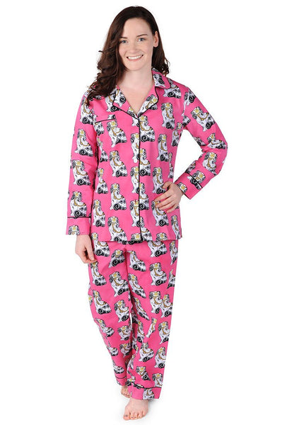 Staffordshire Dog Cotton Poplin Pajama Set