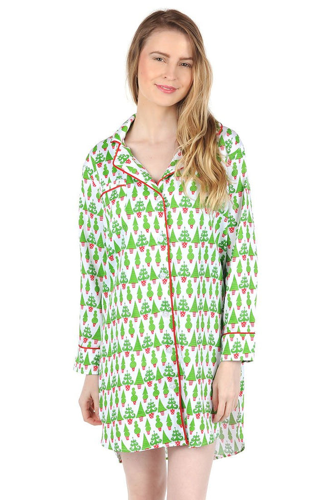 Tangled Tinsel Sateen Sleep Shirt