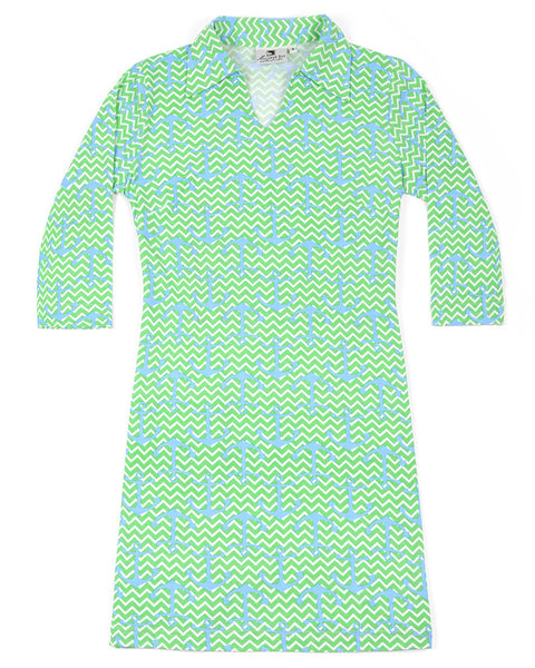 Chevron Anchors Hamilton Dress