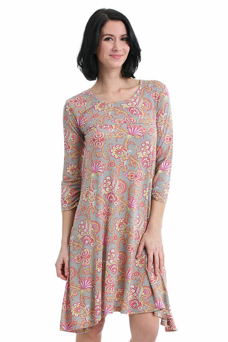 Otomi Cap Sleeve Dress