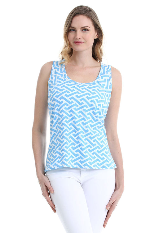 Molly Blue Tank Top
