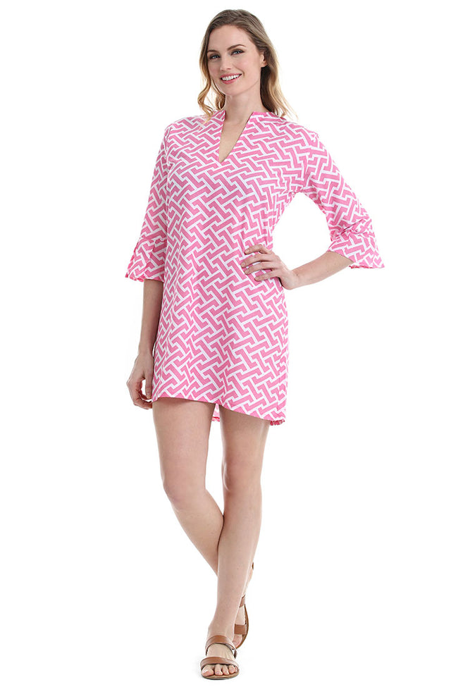 Molly Pink Kaftan Cover Up