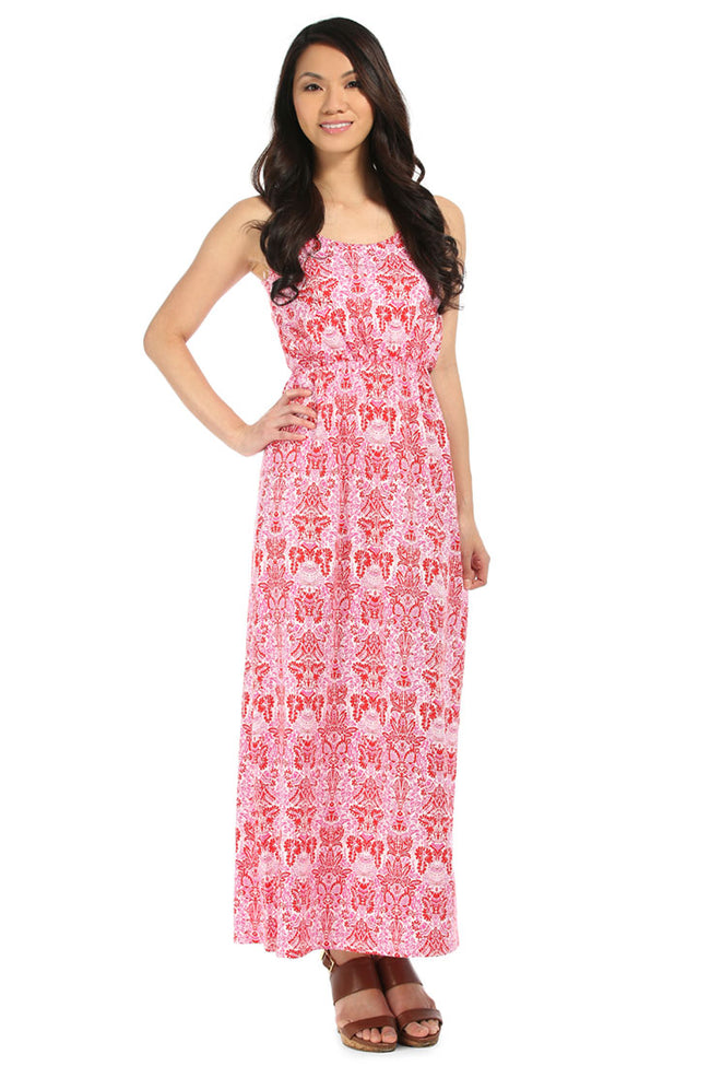 West Indies Red Maxi Dress