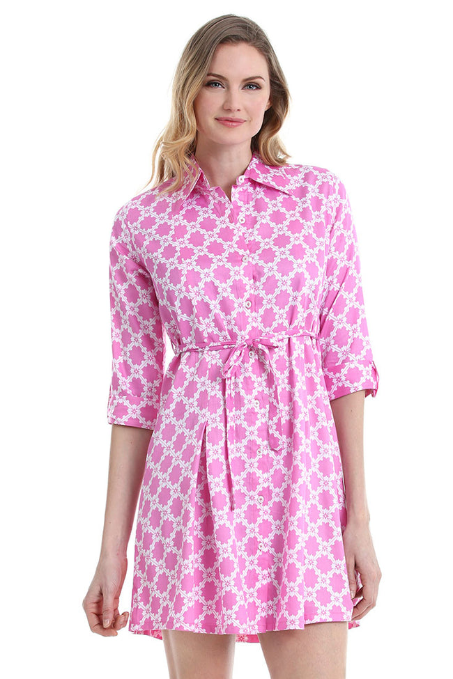 Lattice Naples Shirt Dress