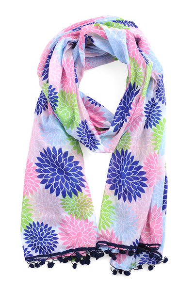 Floral Pop multi Color Scarf Sarong