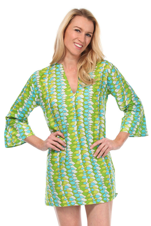 Lucy Aqua Tunic Cover Up
