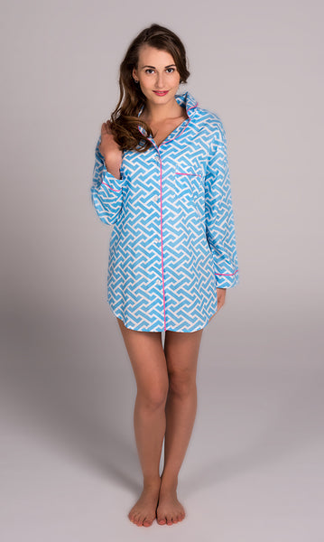 Molly Blue Boyfriend Shirt