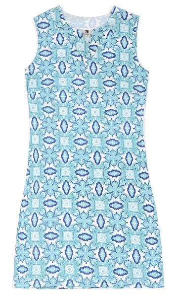 Color Burst Blue Chatham Shift Dress