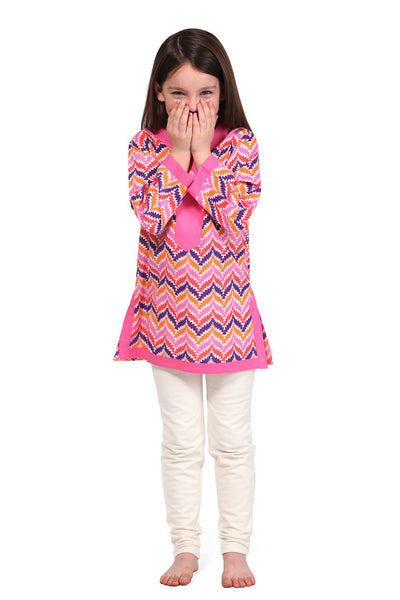 Zig Zag Pink Girl's Cover Up
