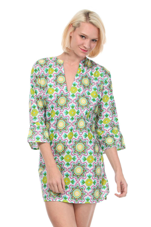 Kaleidoscope Green Tunic Cover Up