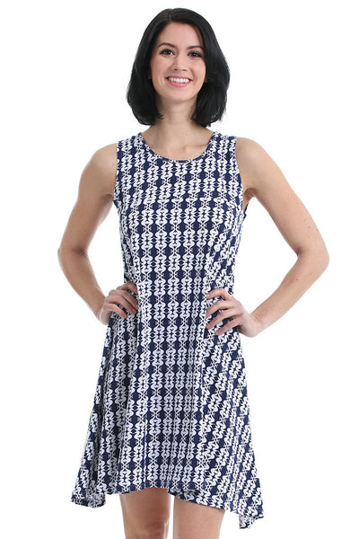 Sea Kisses Navy Fit and Flare Dress