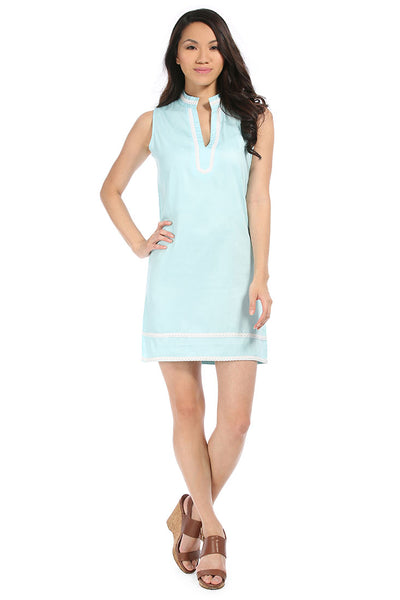 Spa Blue Charleston Shift Dress