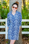Ikat Navy Hamilton Dress