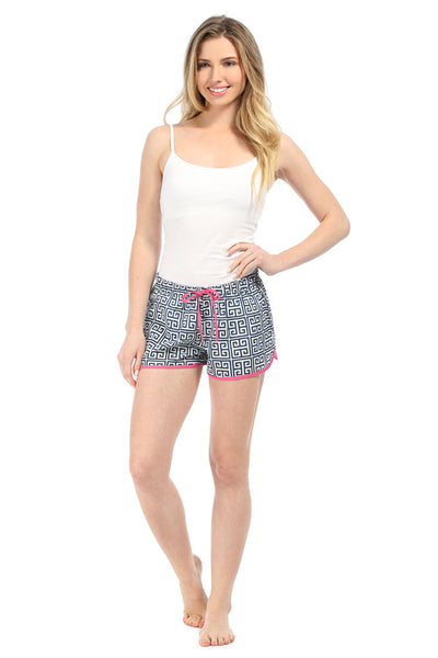 Greek Key Navy Women's Boxers