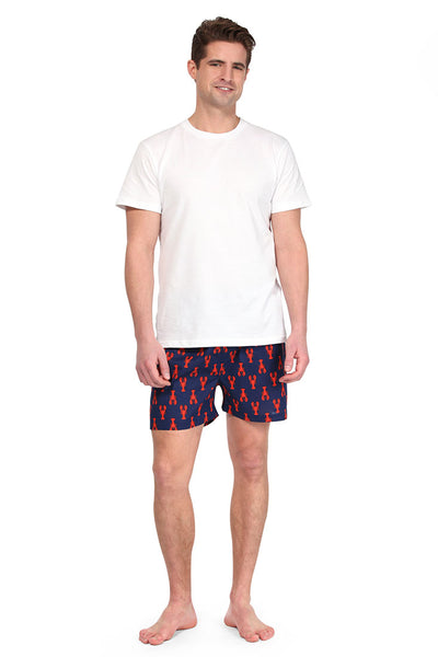 Lobsters Navy Men's Boxers