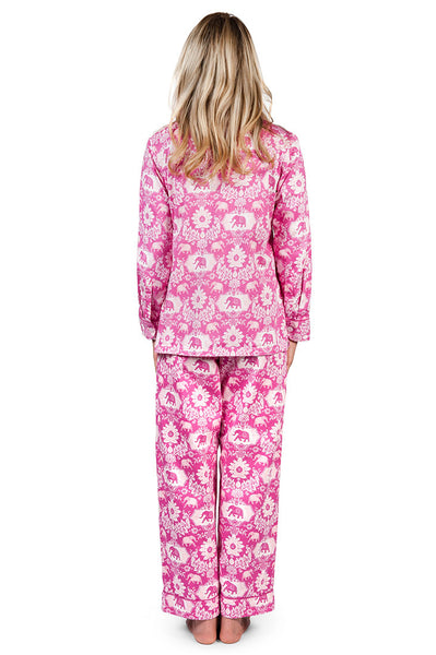 Jaipur Pink Women's Sateen Pajama Set