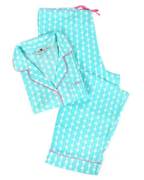 Dottie Aqua Pajama Set