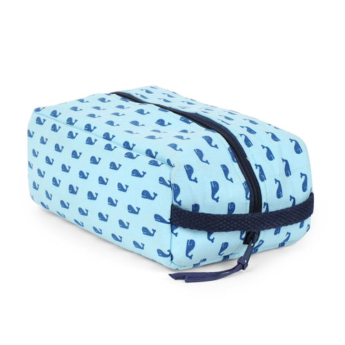 Whales Blue Shoe Bag