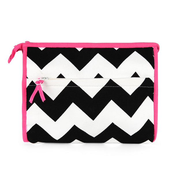 Chevron Black Cosmetic Case