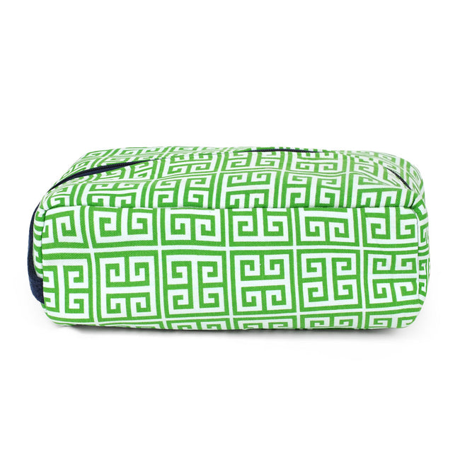 Greek Key Green Golf Shoe Bag