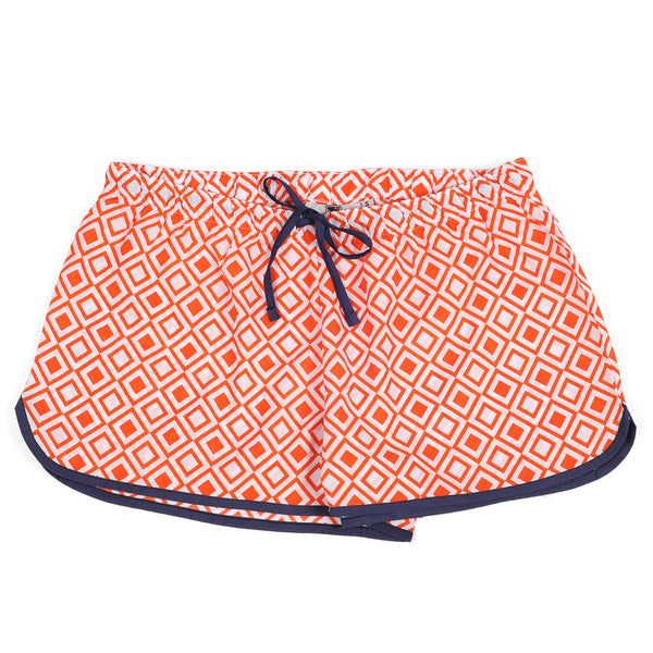 Modern Squares Red Women's Boxers